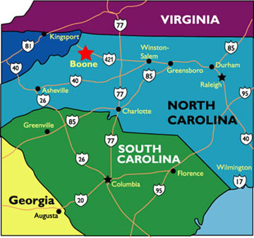 Carolina Mountain Maps And Weather Cabin Rentals Boone